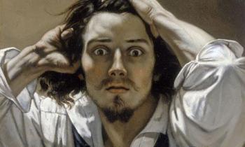 «Le désespéré» («El hombre desesperado»), Autorretrato de Gustave Courbet,  h. 1845