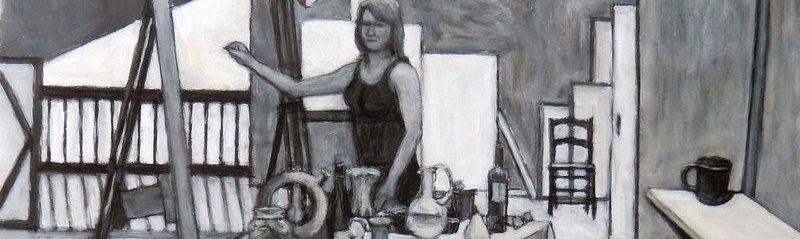 «Self Portrait Drawing Still» de Kathy A. Moore